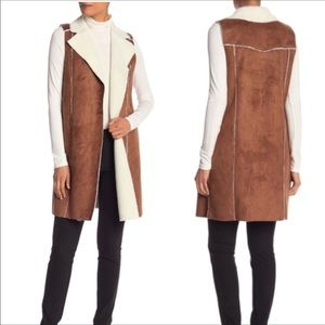 Bcbgeneration Bcbg faux shearling vest NWT